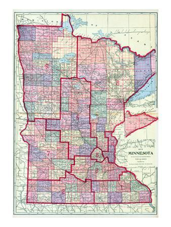Maps of Minnesota Posters for sale at AllPosterscom