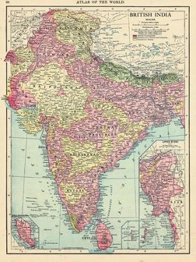 1913, Afganistan, Bhutan, India, Nepal, Sri Lanka, Asia, British India