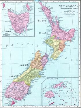 1913, New Zealand, Oceania, New Zealand, Tasmania and Fiji Islands