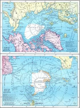 1913, North Pole, South Pole, North and South Polar Regions