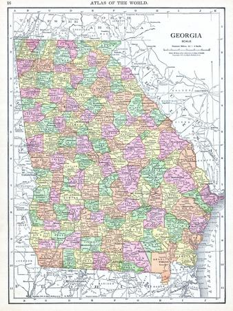 Httpsimgcallpostersimagescomimgposters - Map of north georgia