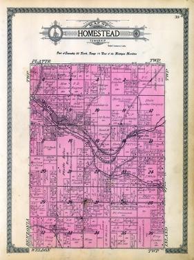 1915, Homestead Township, Carter, Honor, Hay Bridge Station, Cruise Station, Platte River, Michigan