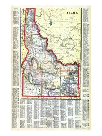 Maps Of Idaho Posters At AllPosterscom - Map of idaho state