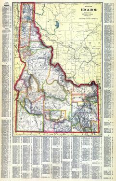 1915, Idaho State Map, Idaho, United States