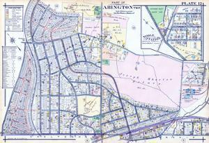 1916, Abington Township, Glenside, Weldon, Ardsley Sta., Noble Station, Pennsylvan