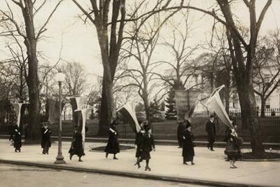 1917 Suffragettes Womens Rights Protest Archival Photo Poster