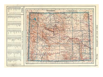 Maps Of Wyoming Posters At AllPosterscom - Wy state map