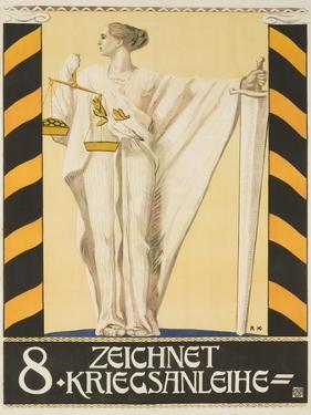 1918 Austrian World War One 8th War Bond Poster