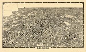 1919, Atlanta Bird's Eye View, Georgia, United States