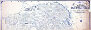 1919, San Francisco Indexed Map of the City and County, California, United States
