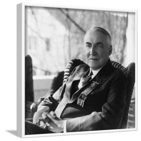 1920 Republican Candidate for U.S. President Warren Harding--Framed Photo