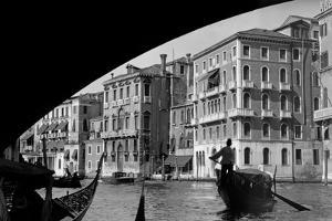 1920s-1930s Gondola Beneath Rialto Bridge Grand Canal Venice, Italy