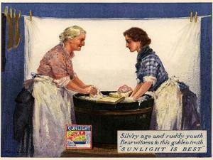 1920s UK Sunlight Soap Magazine Advertisement