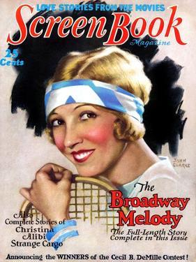1920s USA Screen Book Magazine Cover