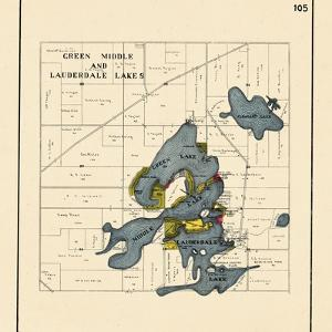 1921, Green Middle and Lauderdale Lakes, Wisconsin, United States