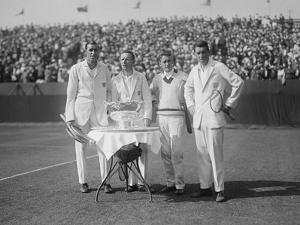 1926 American Davis Cup Team with their Trophy