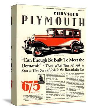 1928 Chrysler Plymouth Sedan