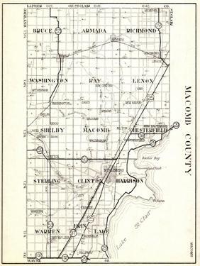 1930, Macomb County, Bruce, Armada, Richmond, Washington, Ray, Lenox, Shelby, Chesterfield, Sterlin