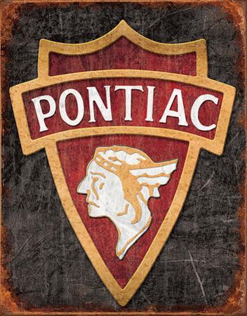1930 Pontiac Logo Tin Sign