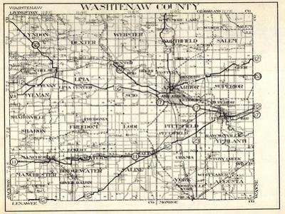 1930, Washtenaw County, Lyndon, Dexter, Webster, Salem, Superior, Ann Arbor, Bridgewater, Saline, M