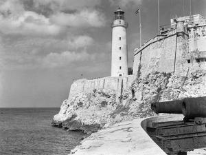 1930s-1940s Lighthouse at Morro Castle Havana Bay Havana Cuba