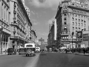 1930s-1940s the Diagonal Norte or the Avenida Roque Saenz Pena Buenos Aires, Argentina
