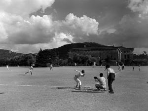 1930s American Sport Baseball Game Being Played in Kyoto Japan