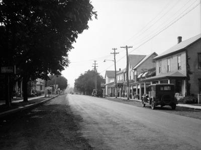 1930s Jennerstown Pennsylvania Looking Down the Main Street of This Small Town