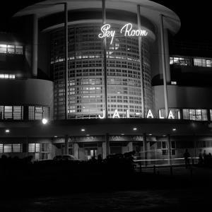 1930s Night Shot of Jai Alai Nightclub Manila Philippine Islands