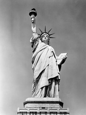 1930s Statue of Liberty NY Harbor Ellis Island National Monument 1886