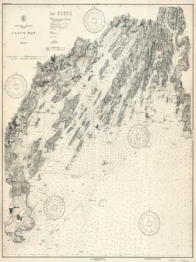 1933, Casco Bay Chart, Maine, Maine, United States