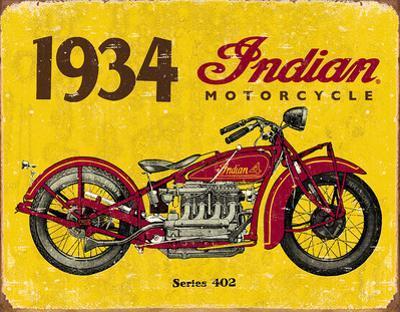 1934 Indian Motorcycles Tin Sign
