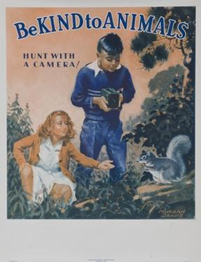 1939 Be Kind to Animals, American Civics Poster, Hunt with a Camera