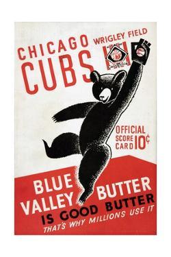 1939 Chicago Cubs Baseball Scorecard