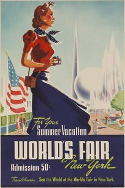 1939 New York World's Fair Poster, for Your Summer Vacation