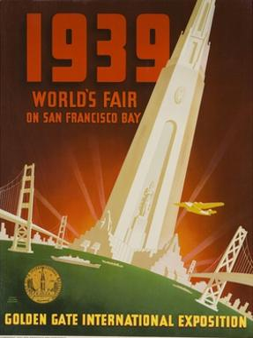 1939 San Francisco Golden Gate Exposition World's Fair Poster