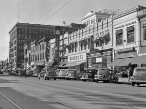 1940s Kansas Street Shopping District Cars Shops Storefronts Topeka Kansas