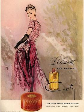 1940s USA Coty Magazine Advertisement