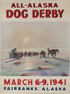 1941 All Alaska Dog Derby Poster