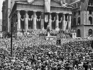 1942 WWIi War Bond Rally New York Stock Exchange Wall Street NYC