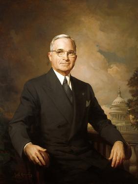 1948 Portrait of Harry Truman Painted by Greta Kempton
