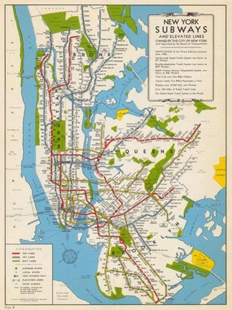 New York Subway Map Poster