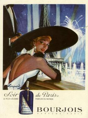 1950s France Bourjois Magazine Advertisement