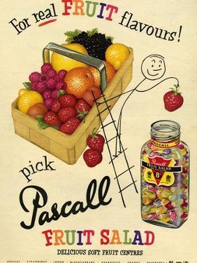 1950s UK Pascall Magazine Advertisement