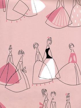 1950s UK Women in Dresses Book Plate