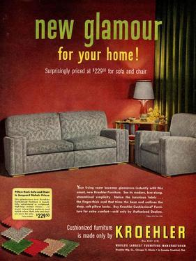 1950s USA Kroehler Magazine Advertisement