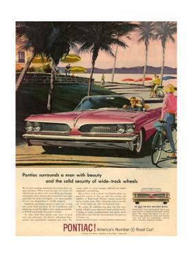 1950s USA Pontiac Magazine Advertisement