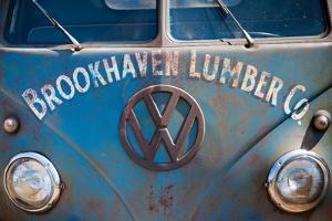 1950s VW bus at antique car show, Cape Ann, Gloucester, Massachusetts, USA