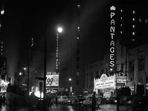 1953 Pantages Theater First Televised Broadcast of Academy Awards Ceremony Los Angeles, California