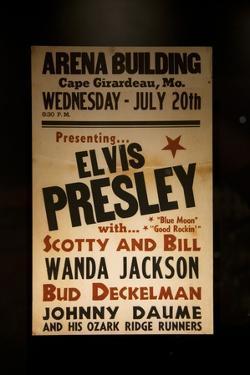 1955 Elvis Presley Concert Poster